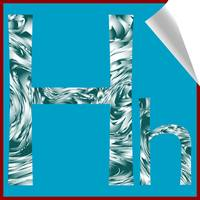 alphabet letter H sticker