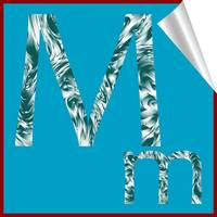 alphabet letter M sticker