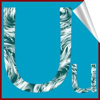 alphabet letter U sticker