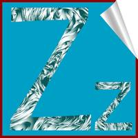alphabet letter Z sticker