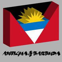 antigua and barbuda 3d flag