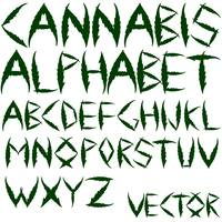 cannabis vector alphabet