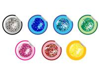 colored disco ball stickers collection