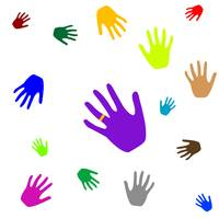 colored hands