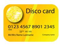 credit card disco yellow