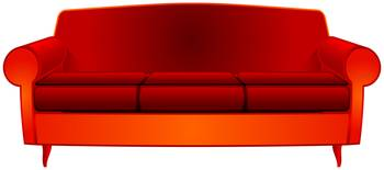 fancy red couch