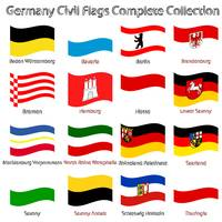 germany civil flags collection against white