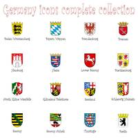 germany icons collection against white