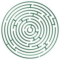 green round maze against white