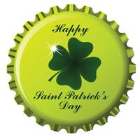 happy saint patrick bottle cap