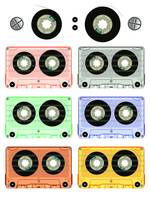 retro audio tape cassette set