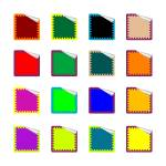 """rounded rectangle colored stickers isolated on whi"" by robertosch"