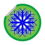 """snow flake sticker isolated on white background 2"" by robertosch"