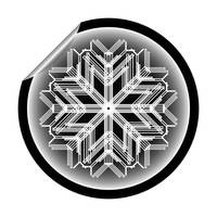 snow flake sticker isolated on white background 14