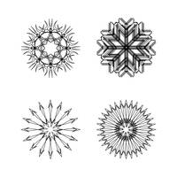 snow flakes collection black and white