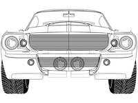 sport car front sketch against white