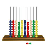 vertical abacus against white