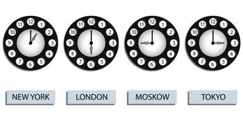 time zone clocks