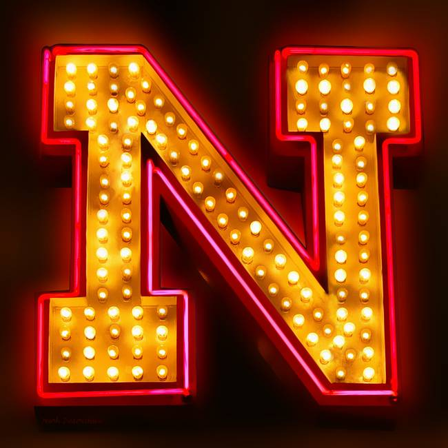 Neon letter n by mark diederichsen for Large neon letters