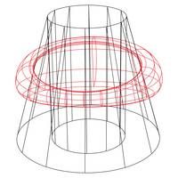 wireframed cone and ring