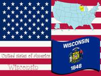 wisconsin state illustration