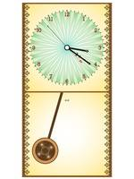 wooden pendule clock