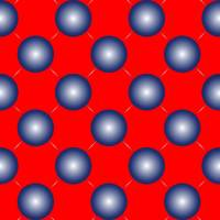 blue spheres on red seamless pattern