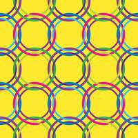 circles seamless pattern in retro colors