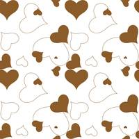 heart brown pattern
