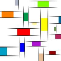 mondrian abstract texture