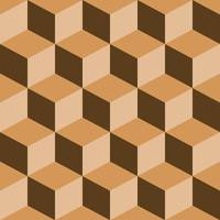 psychedelic pattern mixed brown