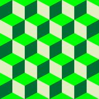 psychedelic pattern mixed green