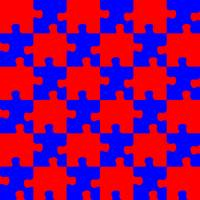puzzle red and blue