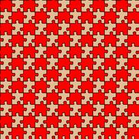 seamless puzzle with red and brown