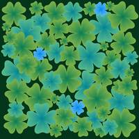shamrock leaves pattern