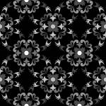 """white and black seamless floral pattern"" by robertosch"