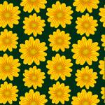 """yellow chamomile pattern"" by robertosch"