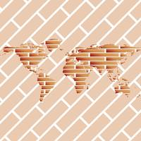 bricks world map
