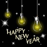 happy year light bulbs