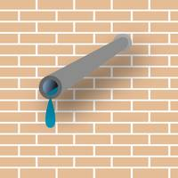 pipe and wall