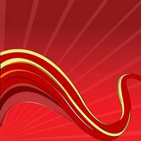 red waves vector