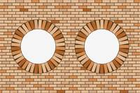 round brick windows