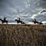 """Steel Cowboys on the Hill close"" by PaulJPorter"