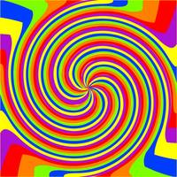 swirl rainbow composition