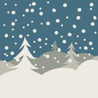 Winter illustration card