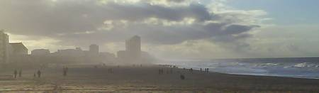Oostende Beach in Sun Haze
