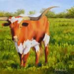 """Texas Longhorn"" by Beckyhicksfineart"