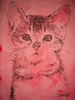 Pink kitty...purrfect for a child's bedroom!