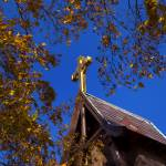 """""""Golden Cross and Autumn Leaves"""" by WilshireImages"""