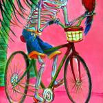 """Hollywood bicycle man"" by HCalderon"